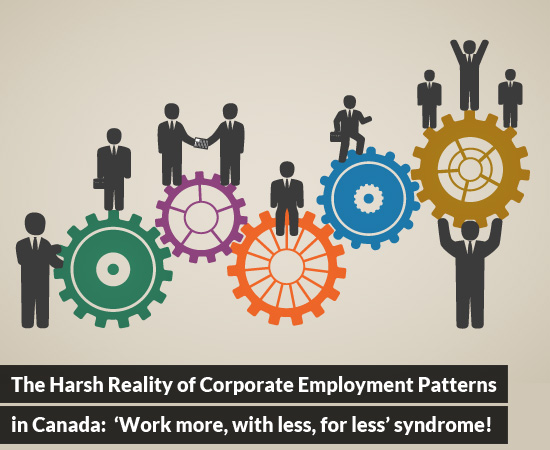 The Harsh Reality of Corporate Employment Patterns in Canada: 'Work more, with less, for less' syndrome!