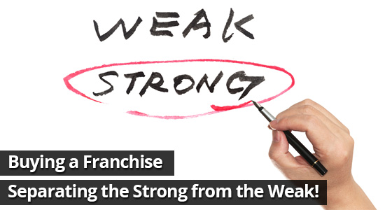 Buying a Franchise – Separating the Strong from the Weak!