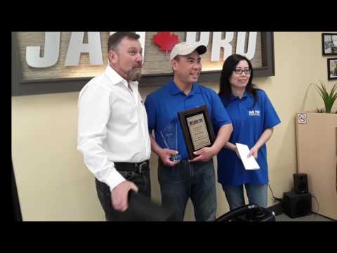 JAN-PRO Canada Unit Franchisee of the Year Award Presentation, Central Ontario